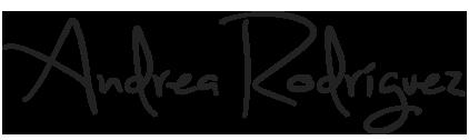 Firma Andrea Rodríguez